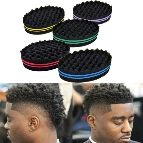 Oval Double Sides  Twists Sponge